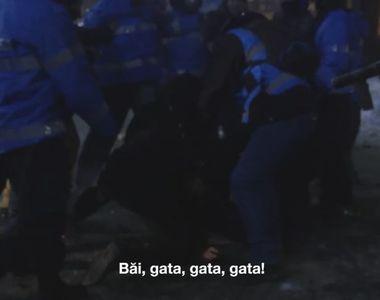 Jandarmii l-au batut din greseala pe un coleg de-al lor, aseara la proteste. Barbatul...