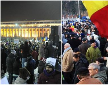 Proteste la Palatul Cotroceni si in Piata Victoriei. Aproximativ 2.000 de oameni cer...