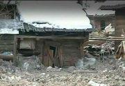 Natura s-a dezlantuit in judetul Maramures. Mai multe case au fost distruse de blocuri uriase de gheata