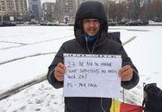 Ce a facut in aceasta dimineata, pe ninsoare, maratonistul Andrei Rosu, care si-a mutat biroul in Piata Victoriei