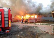 Un tren plin cu calatori a luat foc in gara Sanpetru din Timis. Pompierii au intervenit de urgenta