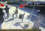 Imagini sangeroase cu atacul de la Constanta in care un pusti de 18 ani a injunghiat angajatul unui magazin