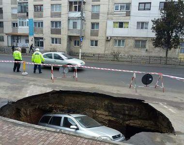 Beciuri brancovenesti descoperite la Ramnicu Sarat, dupa ce asfaltul s-a surpat si a...