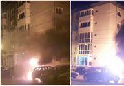 Trei masini au ars complet in Timisoara, in parcarea din fata blocului. Proprietarilor nu le-a venit sa creada cand si-au gasit masinile facute scrum