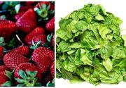 Clasamentul fructelor si legumelor care contin cea mai mare cantitate de pesticide. Capsunele si spanacul sunt in top