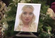 Imagini sfasietoate de la inmormantare Daliei, tanara din Oradea impuscata mortal de fostul iubit. Mama ei s-a prabusit de durere peste cosciug
