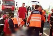 O politista a murit, iar colegul ei se afla in stare grava, pe patul de spital, dupa cer au fost loviti in plin de un camion