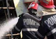 Incendiu la un hotel din Capitala; o femeie a suferit arsuri grave