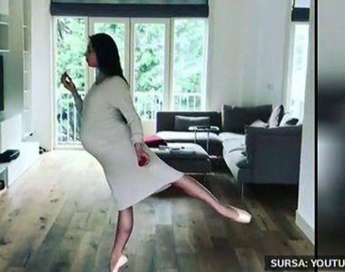 Cine spune ca o femeie insarcinata nu poate sta pe poante? Imagini incredibile cu o...