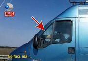 Conduce pe autostrada cu picioarele pe bord! Imagini revoltatoare filmate pe autostrada Arad-Nadlac
