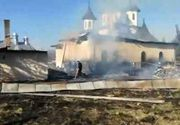 Incendiu la praznicarul unei biserici. Preotul a facut atac de panica
