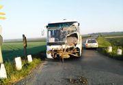 Accident teribil in Vrancea. O duba cu muncitori s-a rasturnat. Oamenii au ajuns de urgenta la spital