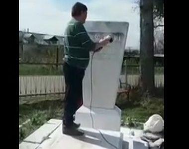 Monumentul funerar al unui sculptor roman, tinta unor acte de vandalism