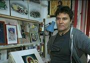 Povestea lui Gica, barbatul care face adevarate opere de arta de pe patul de moarte. O boala necrutatoare l-a facut sa isi descopere harul