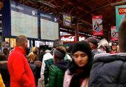 Haos in Gara de Nord. Sute de minute de intarziere din cauza grevei angajatilor CFR si a viscolului