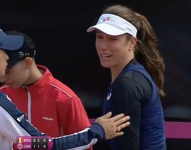 Drama Johannei Konta, tenismena care a izbunit in lacrimi in timpul meciului cu Sorana...