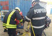 Tragedie pe un santier din Capitala. Un barbat a murit dupa ce a fost prins sub un container care a cazut dupa ce macaraua care il ridica s-a rasturnat