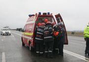 Accident in Dolj. Trei persoane au fost ranite pe DN 6. Una dintre victime, preluata de elicopterul SMURD