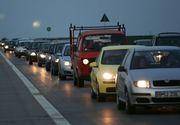Trafic ingreunat pe DN 1 intre Brasov si Predeal, din cauza cetii