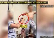 Scene revoltatoare! Copil de 7 ani, filmat cu bautura intr-o mana si tigara in cealalta