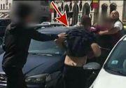 Au fost in stare sa se omoare pentru un loc de parcare, de fata cu politia. Imagini halucinante