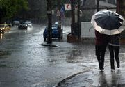 Cod galben de ploi si grindina pentru cinci judete din Romania