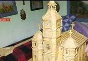 Un satean din Bistrita a realizat o opera de arta cu care a reusit sa-si uimeasca toti vecinii. A construit cea mai ciudata biserica. Uite din ce e facuta