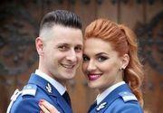 Alexandra si Paul sunt jandarmii din Hunedoara care s-au casatorit in uniforme. Fotografiile au starnit un val de simpatie