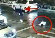 A dat cu masina peste ea si a fugit! Ce fac ceilalti oameni cand vad femeia nu se ridica. Imagini socante
