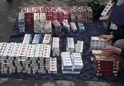 Contrabandist de tigari, prins dupa ce a sarit din mers din microbuzul cu care transporta marfa. Masina s-a oprit intr-un cap de pod