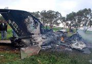 Un MiG 21 s-a prabusit in judetul Constanta. Pilotul roman a fost recuperat de echipele de salvare