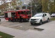 Incendiu puternic in apropierea Judecatoriei Vaslui, din centrul municipiului, dupa ce doua masini au luat foc