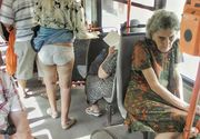 Caldura mare in autobuzele din Bucuresti! O femeie si-a ridicat rochia si a ramas in chiloti