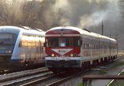 Cinci trenuri blocate intre Arad si Simeria, din cauza copacilor care au cazut pe sine si au intrerupt alimentarea cu energie