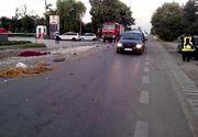 Accident grav pe DN 64, la iesirea din Dragasani: 4 persoane ranite dupa ce un sofer a intrat pe contrasens