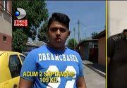 La 15 ani, Florin are 115 kilograme. Numai in doua saptamani s-a ingrasat 6 kilograme. Povestea baiatului e absolut impresionanta