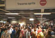 Haos miercuri dimineata la metrou. Statia Unirii, blocata
