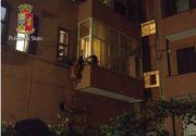 Scene socante surprinse in Italia. O romanca a sarit goala de la balcon, dupa ce a fost violata si sechestrata