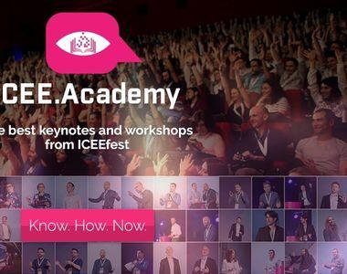 S-a relansat iCEE.academy: platforma de e-learning a comunităţii festivalului iCEE.fest...