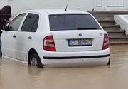 Zeci de strazi din mai multe localitati ale judetului Constanta, inundate in urma ploilor din ultimele ore