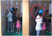 Si-au incuiat copilul in dulap pentru a nu plati bilet si pentru el la piscina. Imagini socante