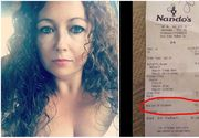 A mers la restaurant cu fiul ei sa sarbatoreasca, insa ce a gasit pe nota de plata a lasat-o fara cuvinte!