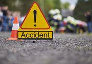 Accident grav in Arges. Trei raniti, la spital dupa ce un tanar a intrat cu masina in terasa unui bar