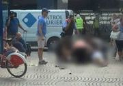Scena de cosmar in Barcelona. Balti de sange, trupuri fara viata cazute pe asfalt si oameni impietriti de groaza. A fost un adevarat macel