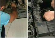 I se parea ca aude ceva la motorul masinii si a oprit! Cand s-a uitat mai bine a avut parte de un soc. A mers asa de la Constanta pana la Iasi