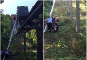 Operatiune de salvare la inaltime. 17 turisti au ramas blocati in telecabina de pe Dealul Cetatii din Deva