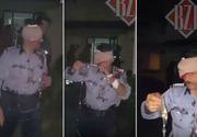 Imagini cu politistul din Iasi mutilat de un agresor bolnav psihic. Omul legii apare bandajat si plin de sange, cu o perfuzie in mana