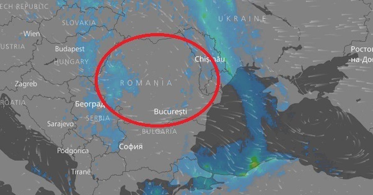 Cum Se Vede Din Satelit Ciclonul Care Loveste Romania Harta Activa In