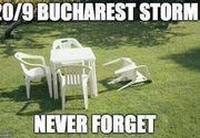 """Romanii stiu sa se distreze. Cum au facut misto pe internet despre """"furtuna devastatoare"""" din Bucuresti. Cele mai bune glume"""