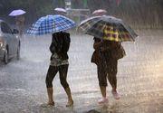 ANM: Cod galben de precipitatii pentru 12 judete si partial pentru alte 7. Averse si vreme rece in cea mai pare parte a tarii pana sambata la ora 21.00